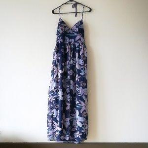 Jessica Simpson Chiffon Floral Halter Maxi Dress